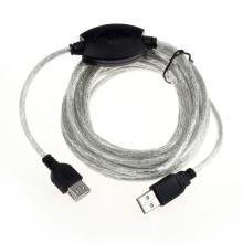 Factory price 15FT 5M USB 2.0 Active Repeater Cable Extension For Computer Plug 51130 Drop Shipping Drop Shipping