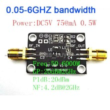 High linearity LNA 0.05-6GHZ bandwidth RF amplifier Signal Receiver FM HF VHF / UHF Ham Radio