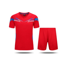 2017Jersey  Sports soccer jersey football team sets training running Adult men Group Short Sleeve polo shirt  Red