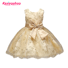2-8 yrs Kids Infant Girl Embroidery Dress Children Wedding Toddler High-end Dress Flower Vestidos Prom Gown  Formal Party Dress