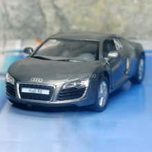 10pcs/pack Wholesale Brand New KT 1/36 Scale Germany Audi R8 Diecast Metal Pull Back Car Model Toy(China)