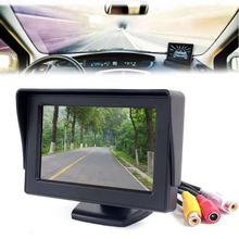 Mini HD Car Monitor Foldable Color Car Reverse Rearview Parking System 4.3 inch LCD Monitor for Car Rear view Camera