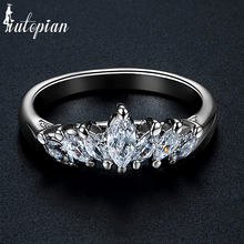 Iutopian Brand Elegant Crown Rings For Women With Top Quality CZ Two Colors Mother Day's Gift For Girlfriend #RA14189