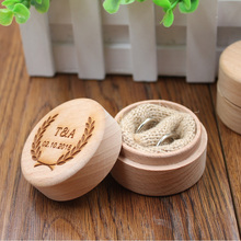 Buy Custom Ring Box Personalized Wedding Valentines Engagement Wooden Ring Bearer Box Rustic Wedding Ring Box Holder for $10.79 in AliExpress store