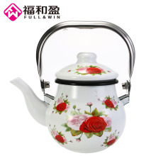 1Pcs Full AND Win Ball Shaped Enamel Pot Smooth Black Kitchen Kettle Used On for Tea and Drink Storage(China)