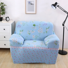 Cool floral design sofa covers for living room single double three four seat loveseat slipcover spring feel sofa cover elastic