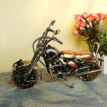 Best Birthday Gift Handmade fashion home decoration Metal Motorcycle Model Toys for kids