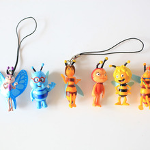 1 piece Cute Maya Bee Cartoon Children Action Figure Toy Birthday Christmas Gift Collection