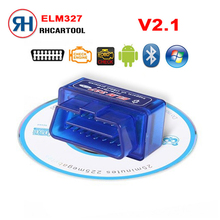 2018 Wireless V 2.1 Super Mini ELM327 Bluetooth OBD2 OBDII Bluetooth Elm 327 Car Diagnostic Scanner Works on Android/PC(China)