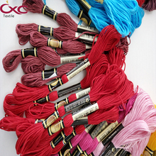 CXC(CXC) embroidery thread ,cross stitch thread 8m per piece in high color fastness ,Specify five colors thread six strands,