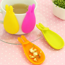 2 Pcs Neoteric Serviceable Silicone Gel Rabbit Shape Tea Bag Infuser Holder Candy Colors Mug Gift Substantial(China)