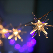 3.3M Battery Powered Stars Explosion Ball 20 LED Fairy String Lights led Christmas lights Halloween Garden Home Party Decoration(China)
