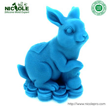 3D Rabbit Shaped Silicone Resin,Clay Molds DIY Salt Carving Moulds(China)