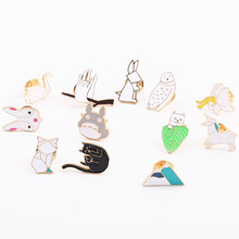 Fashion jewelry Joker brooch coat collar bag charm women micro chapter Girls clothing accessories Sell like hot cakes brooch