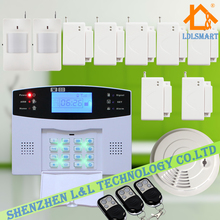 LCD Screen GSM Home Security Alarm Wireless GSM Home Intelligent Alarm System Fire Alarm Detector Sensor