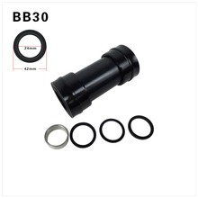 High Quality BB30 Bottom Bracket Shell 68/73mm Thread Type For Road and MTB Mountain Bike Aluminum Alloy Axle BB30 Bike Parts(China)