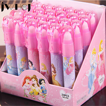 1 x novelty pen shape eraser Animated cartoon princess rubber eraser creative stationery school supplies papelaria gift for kids(China)
