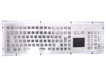 Mechanical USB Metal Industrial Keyboard With Touchpad 103 keys Ruggedized Keyboard Stainless Steel USB kiosk Keypad(China)