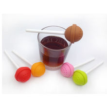 Silicon Sweet Tea Infuser Candy Lollipop Loose Leaf Mug Strainer Cup Steeper ZY