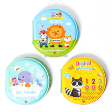 new circular waterproof bath book happy bath time,digital learning zoo sea fishes 3styles mixed with BB whistle,educational toy(China)
