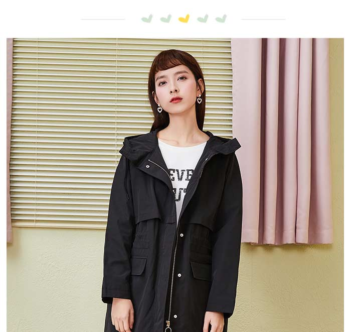 SEMIR Women Oversized Baseball Jacket with Zip Stand-up Collar Jacket with Slant Pocket Embroidery at Back Ribbed Cuffs and Hem 4