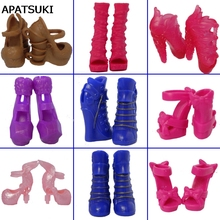 5pairs/lot Mix Style Fashion Design Shoes High Heel Shoes For Monster High Dolls Sandals For 1/6 Monster Dolls(China)