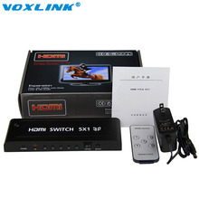 5 port HDMI Switch 5x1 Switcher Converter adapter Support audio HDMI 1.4 3D video 720p 1080i 1080p(China)