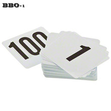 Hot Plastic Table Marker Number Cards for Banquets or Poker Tables 1-100  Black on White Table Numbers Wedding Restaurant Bar