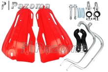 "PAZOMA Univernal 7/8"" Handguards For Honda Kawasaki Yamaha Dirt KTM MX ATV Ne RED FOR MOST OF Motorcycle(China)"