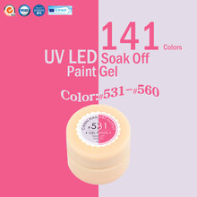 CANNI Nail  Art  141 Color Soak Off UV/LED Color Gel Long Lasting  CANNI Color Gel Lacquers CANNI Hot Sale Gel Painting