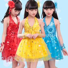 fashion bling bling halter kids cocktail dress Children's Party Dresses for girls 2 3 4 5 6 7 8 9 10 to 12 years old