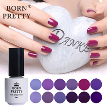 BORN PRETTY Nail Art UV Gel Soak Off UV Polish Charming Purple Series Manicure Nail Art UV Gel Varnish 12 Colors