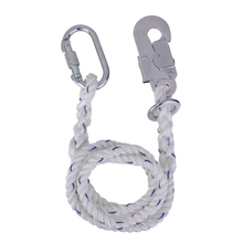 Rock Climbing Fall Arrest Safety Lanyard Hook Carabiner Strap Random Color for Outdoor Mountaineering Rock Climbing Protector