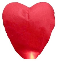 Red Heart Sky Lanterns Chinese Paper Sky lantern Candle Fire Balloons for Wedding / Anniversary / Party / Valentine