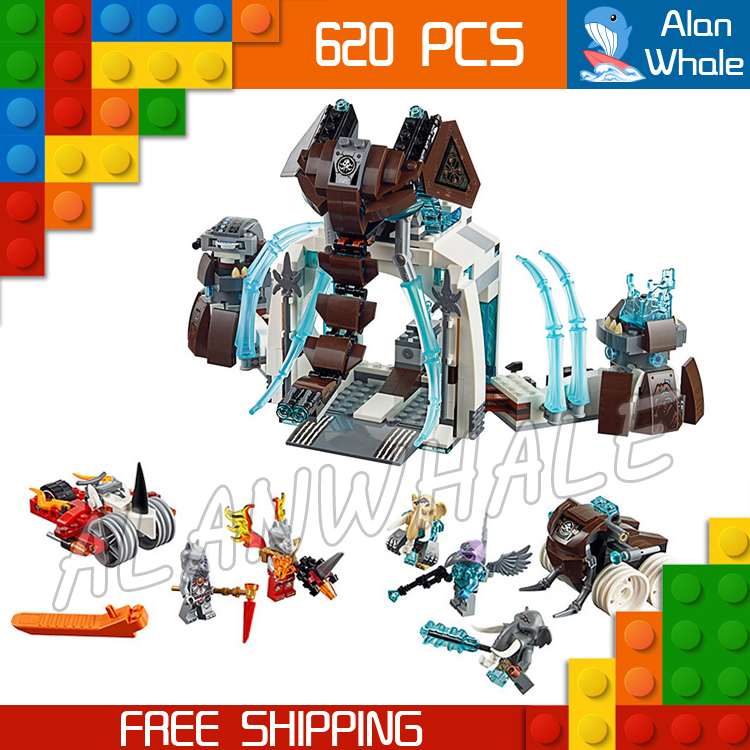 620pcs Bela Chimo 10356 Mammoths freeze Stronghold building blocks mysterious Compatible with Lego Rogon Maula<br>