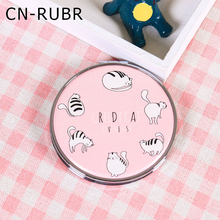 CN-RUBR 1Pcs Cartoon Round Makeup Mirror 6*6cm Multi-style Compact Cosmetic Mirror Folding Pocket Compact Mirror for Girl's Gift