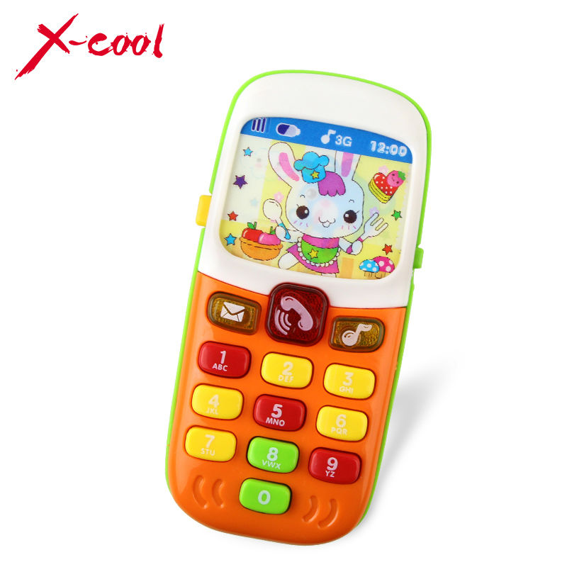 X-Cool Children Electronic Mobile Phone with Sound Smart Phone Toy Cellphone Early Education Toy Infant Toys Random Colors(China (Mainland))