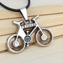 Famous Campus Life Style Bicycle Pendant Necklace 2017 New Fashion For Men And Women Crystal Enamel Jewelry Travel Bike Hot Sale