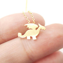 Buy Jisensp Fashion Dragon Wings Necklace Silhouette Shaped Charm Women Necklace Animal Jewelry Cute Pendant Necklace N134 for $1.41 in AliExpress store