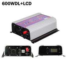 600W LCD grid tie inverter with dump load for DC wind turbien generator,mppt pure since wave wind on grid inverter