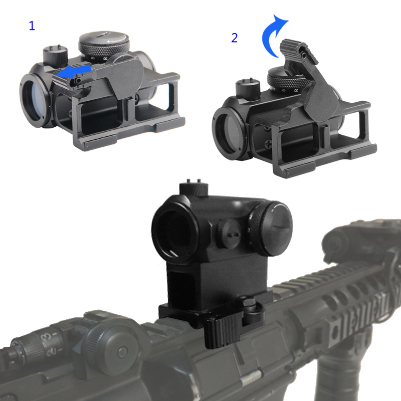 Tactical Mini 1X24 Red Dot Sight Scope with QD Quick Release Mount for Hunting Airsoft RL5-0039-10