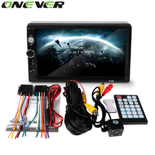 Onever 2 Din 7 inch Bluetooth Car MP4 MP5 Player HD Touch Screen Support Rear View Camera Handsfree Car Audio Video FM USB SD AU(China)