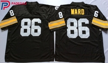 Embroidered Logo Hines Ward 86 black Throwback high school FOOTBALL JERSEY for fans gift cheap 1108-18(China)