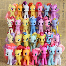 Free shipping 8cm horse PVC Toys, Kawaii Cute Unicorn Doll Anime Figure Collection Toy Birthday Gift