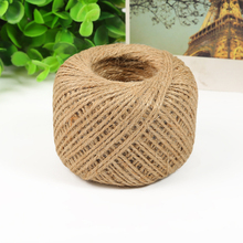 100m Jute Twine Sisal Rope Burlap String Rope Cord Package Rope Wrap Gif Craft Making Hemp Rope House Decoration Tools WN0263(China)