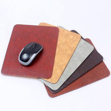 Soft PU leather computer mouse pad with 240x190x3mm size easy to clean more thicker and bigger for laptop desktop PC