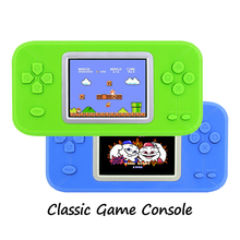 "Classic Game Console with 200+ Games 2.4"" Color Screen Pocket Hand-held Game System Educational Toys for Children Kids Boy(China)"