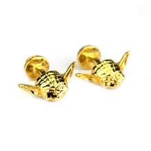 High-end Custom Gold Movie Star Wars Series Jewelry the Main Force Master Mask Cufflinks Popular Men Shirt  Gifts Cuff Links