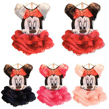 2015 New Baby Girls Sets Girls Minnie Mouse Clothing Set T shirts + Skirt Children 2pcs Suit Retail