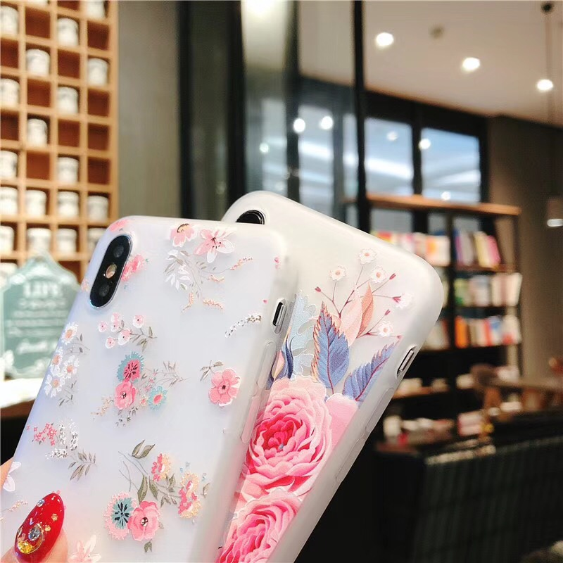 Rose SE Soft TPU Cover Flower Silicon Phone Cases For iPhone Models